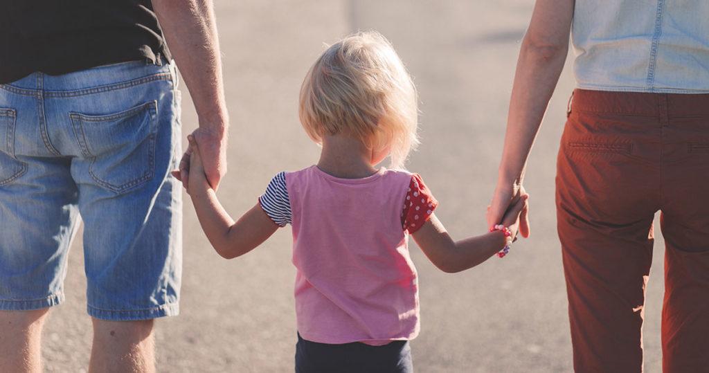 couple séparé avec un enfant