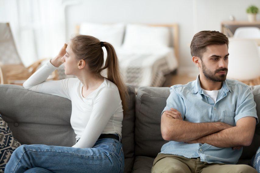 couple en cours de séparation